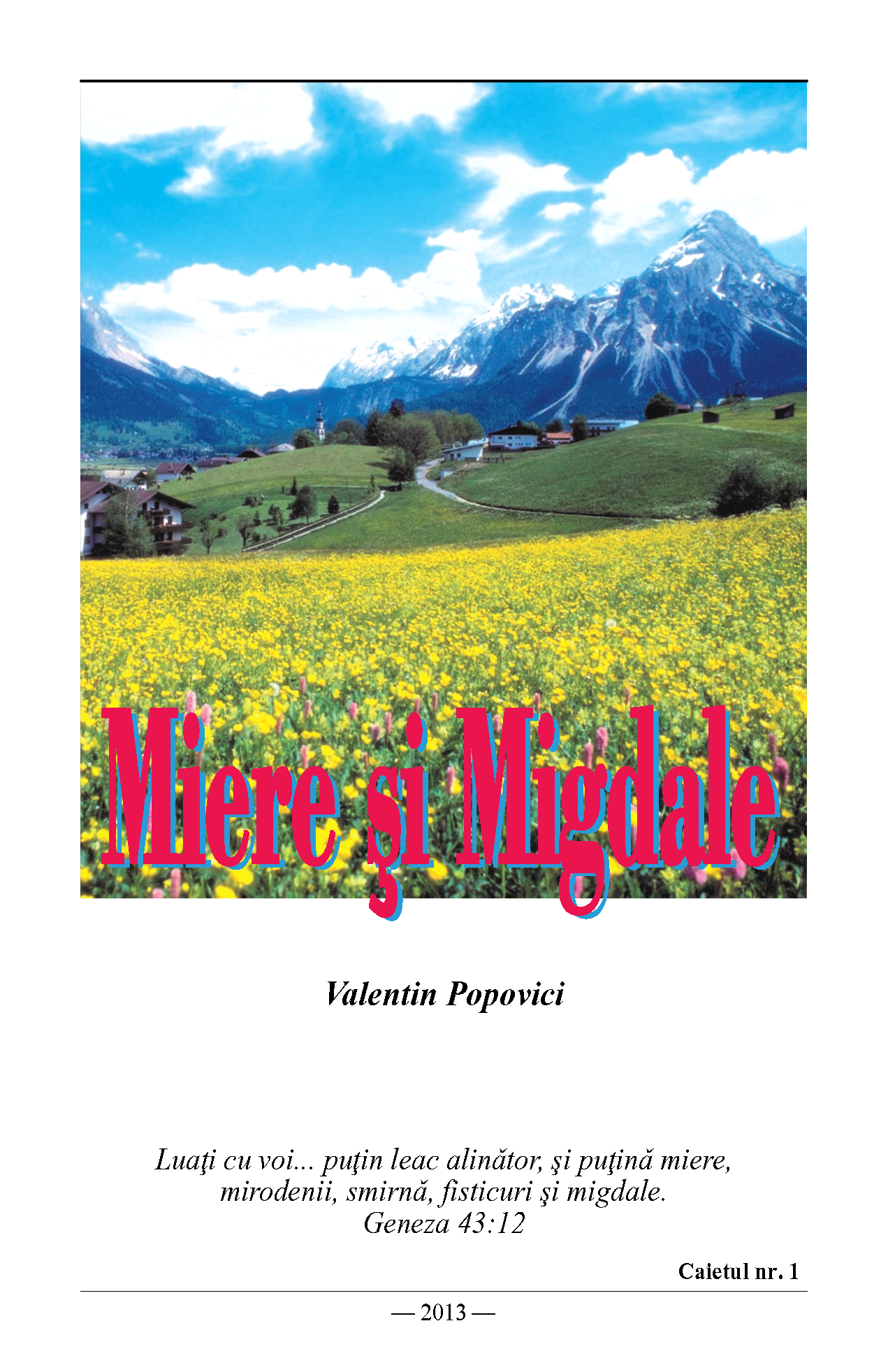 Miere si Migdale v1 front cover image