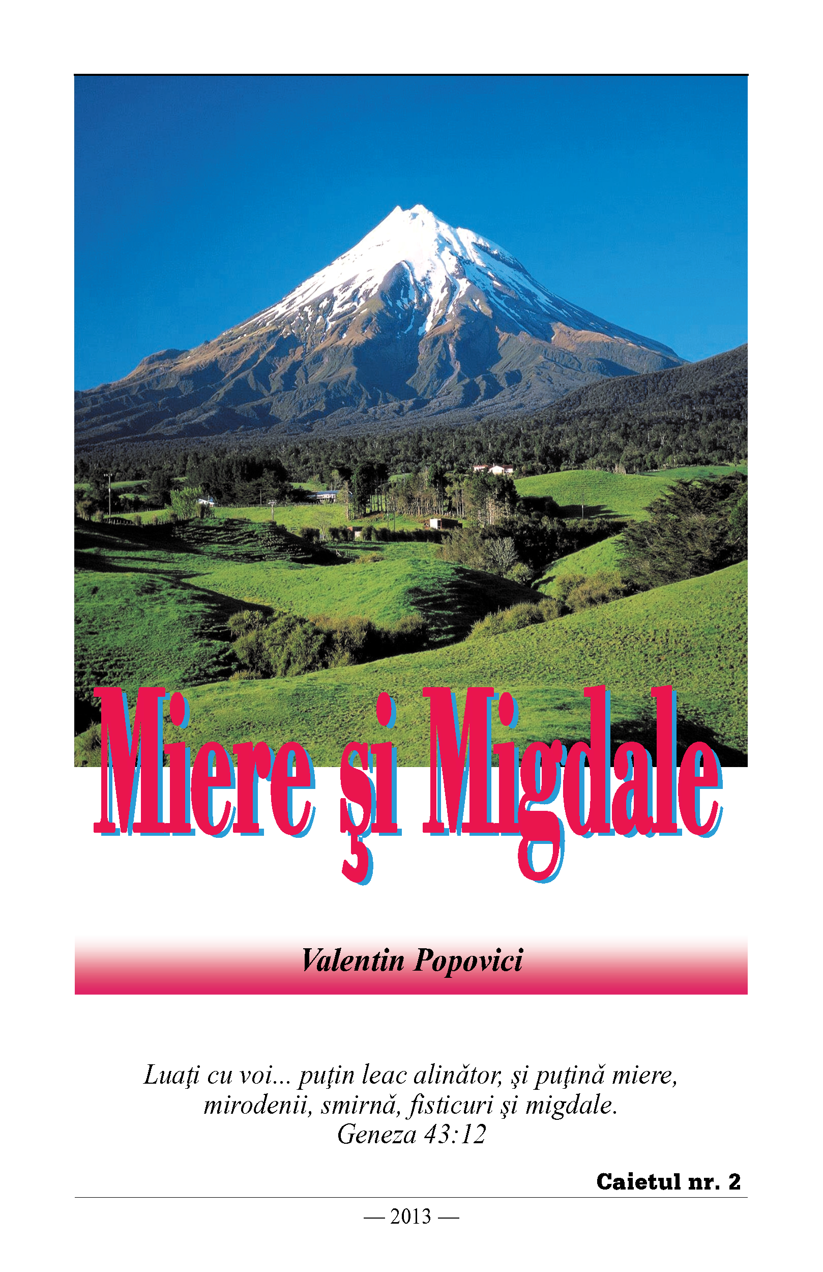 Miere si Migdale v2 front cover image
